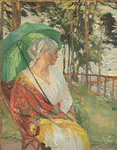 Portrait of Aino Kallas. 1916