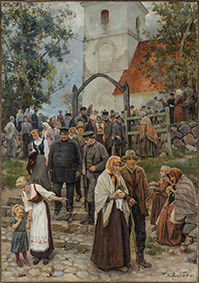 Coming from Church (After the Service). 1894