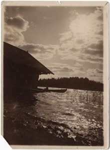 Finnish summer, a photograph by Janis Rozentāls. Ca. 1908.