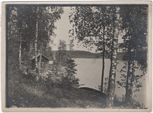 Finnish summer, a photograph by Janis Rozentāls. Ca. 1908.