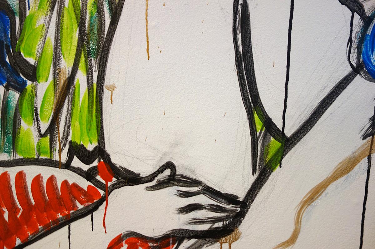 Yksityiskohta teoksesta Sensual meadow, Ingrīda Pičukāne